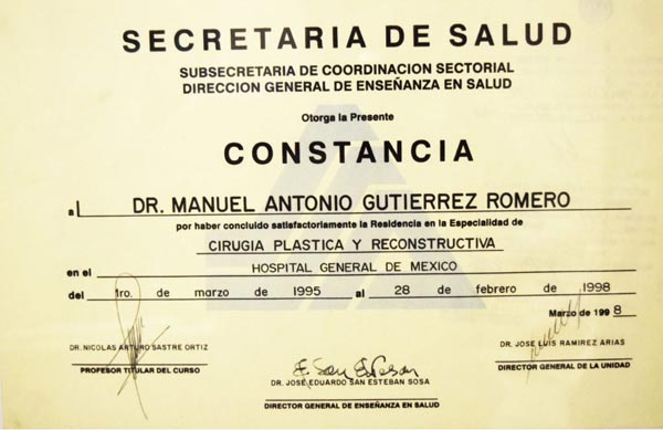 Constancy by secretary of health