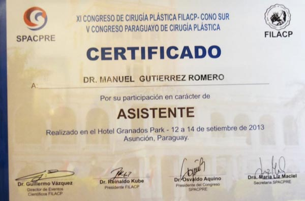Assistant Certificate By FILACP